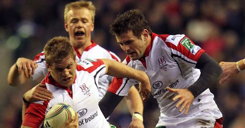 Ulster flanker Chris Henry going to ground