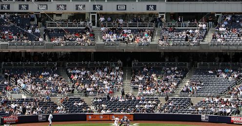 There have been swathes of empty seats at Yankee Stadium this season