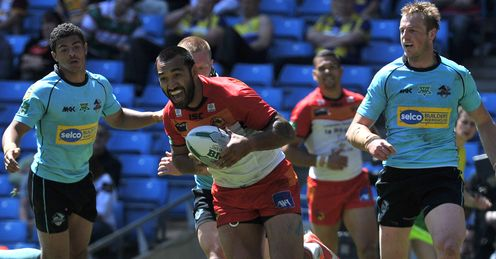 Zeb Taia try Catalan Dragons v London Broncos Magic Weekend