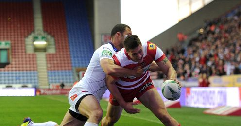 Anthony Gelling  Wigan v Salford Super League