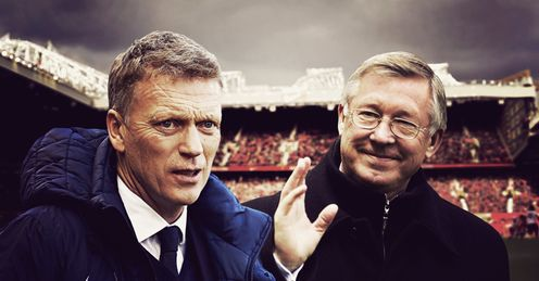 Moyes and Ferguson: received send-offs from home fans on Sunday
