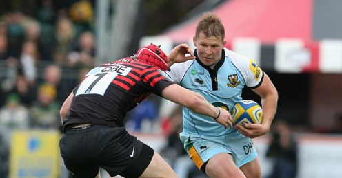 DYLAN HARTLEY ANDY SAULL SARACENS NORTHAMPTON