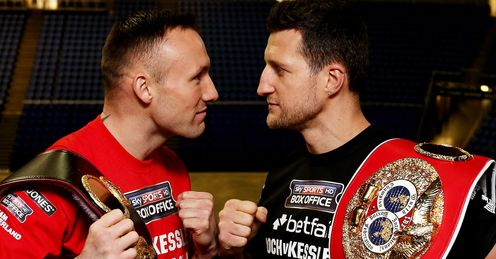Kessler and Froch: evenly matched, but Jim's tipping the Cobra to win