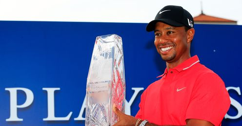 Tiger Woods after winning The Players