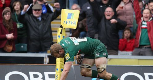 Tom Croft try Leicester Tigers Aviva Premiership