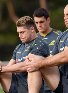 Australia training 2013  James O Connor and Stephen Moore