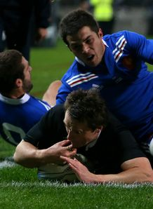 Ben Smith scores for New Zealand against France third Test New Plymouth