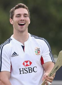 George North Lions training 2013