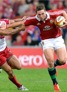 George North hand off Reds v Lions