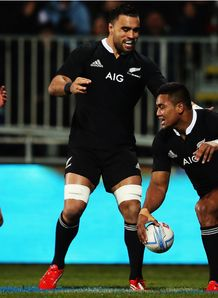 Julian Savea try New Zealand v France