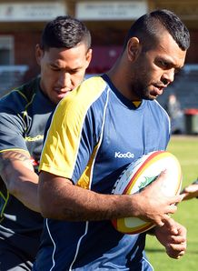 Kurtley Beale Wallabies training 2013
