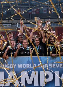 New Zealand Women with Sevens Rugby World Cup