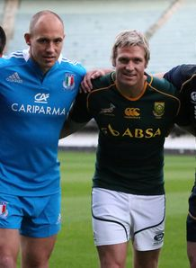 Paul Williams Samoa Sergio Parisse Italy Jean de Villiers South Africa and Kelly Brown Scotland
