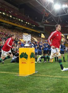 Sam Warburton leads out Lions 1st test