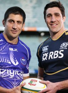 Samoa and Scotland captains Paul Williams and Kelly Brown