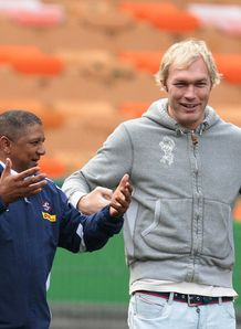 Schalk Burger and Allister Coetzee 2013