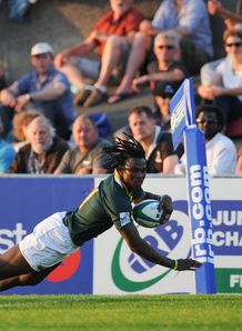 Seabelo Senatla of South Africa during the 2013 IRB Junior World Championship