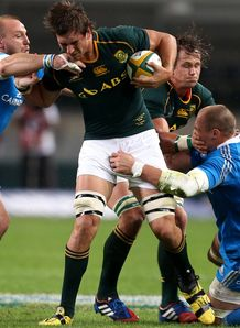 Springbok lock Eben Etzebeth held in contact