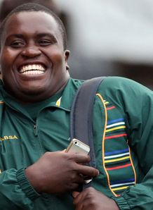 Trevor Nyakane arriving for Springbok debut
