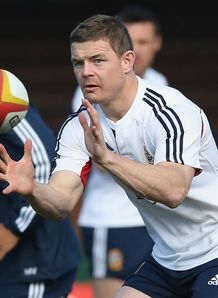 BRITISH AND IRISH LIONS CAPTAIN'S RUN MELBOURNE BRIAN O'DRISCOLL