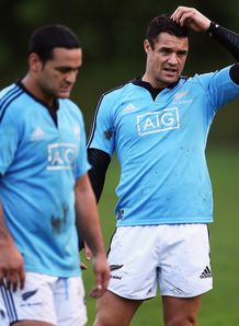 Daniel Carter Piri Weepu New Zealand New Plymouth
