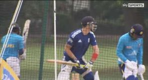 Pietersen hits the nets