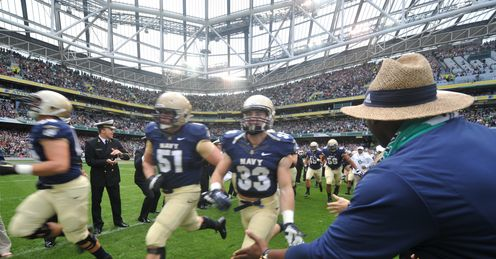 Navy stars took on Notre Dame in the Aviva Stadium last year