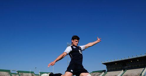 England back Freddie Burns kicking in Salta