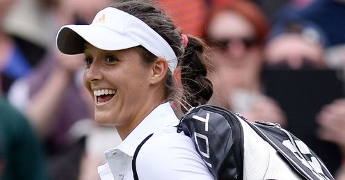Laura Robson: 'I've only made the second round once so it was a big win'.