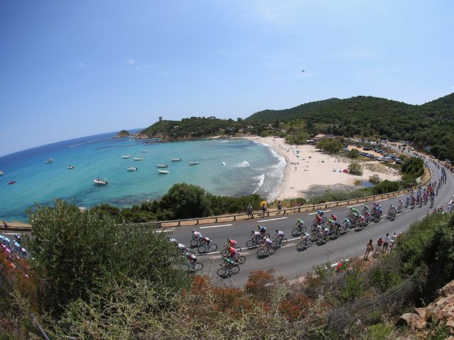 Corsica provided a stunning setting for the Grand Depart
