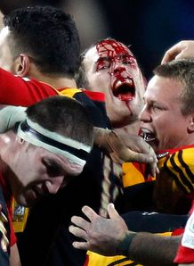 Chiefs back Andrew Horrell bloodied