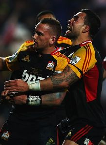 Chiefs v Crusaders Aaron Cruden