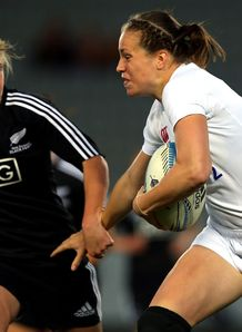 Emily Scarratt right New Zealand v England 1st Test 2013