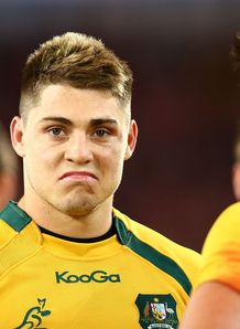 James O Connor of the Wallabies looks on after losing