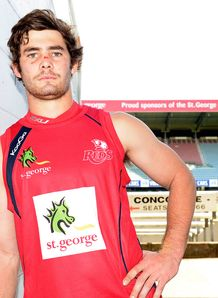 Reds flanker Liam Gill leaning