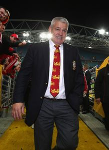 Warren Gatland walk donw tunnel 3rd lions test 2013