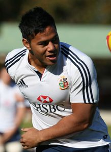 BRITISH AND IRISH LIONS THIRD TEST CAPTAIN'S RUN MANU TUILAGI