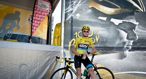 Chris Froome enjoys a moment of calm before the sign in