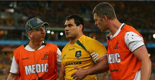 George Smith injury Australia v Lions 3rd Test