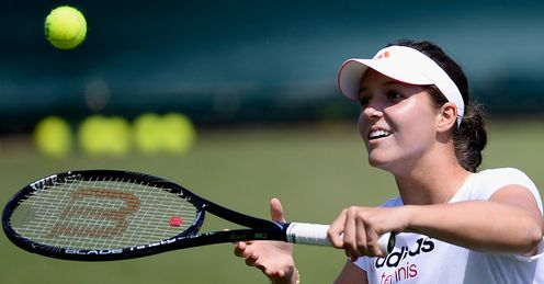 Laura Robson: aiming to become the first British woman in 29 years to reach the quarter-finals