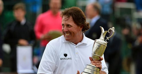 Mickelson won the Open two years after finishing runner-up to Darren Clarke at Royal St George's