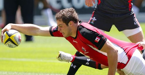 Tyler Ardron scoring for Canada Sevens