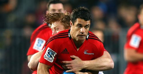 DAN CARTER CRUSADERS V REDS SUPER RUGBY