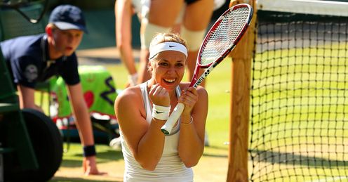 Sabine Lisicki: has beaten Serena Williams and Agnieszka Radwanska en route to the final