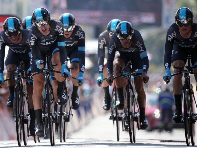 Team Sky put in an impressive ride