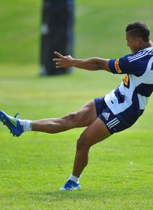 Cheslin Kolbe at training