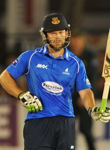 Yorkshire Bank 40: Ed Joyce's century sees Sussex to big target