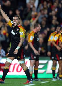 Liam Messam Chiefs celebrates full time Super Rugby Final v Brumbies 2013