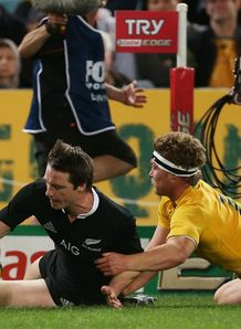 BEN SMITH HAT-TRICK AUSTRALIA V NEW ZEALAND RUGBY CHAMPIONSHIP