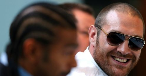 Fury: the heavyweight (R) will benefit from Cunningham's help, says Glenn